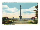 Quebec, Canada - Braves Monument Scene Posters by Lantern Press