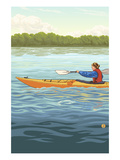 Kayak Art by  Lantern Press
