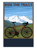 Bicycle - Mountains Prints by  Lantern Press