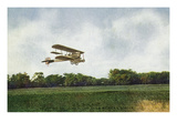 View of a US Biplane Taking Off Near Mexican Border Prints by  Lantern Press