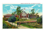 Los Angeles, California - Exposition Park, Exterior View of Museum Art by  Lantern Press