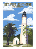Key West Lighthouse, Florida Day Scene Prints by  Lantern Press
