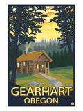 Cabin Scene - Gearhart, Oregon Art by  Lantern Press