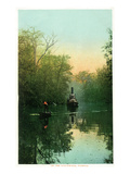 Florida - Boats on the Ocklawaha River Prints by Lantern Press