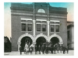 Waterloo, Iowa - Exterior View of Central Fire Station Posters by  Lantern Press