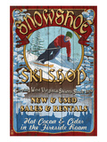 Snowshoe, West Virginia - Ski Shop Prints by  Lantern Press