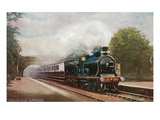 Scotland - Caledonian Railways Highland Express Train View Prints by  Lantern Press