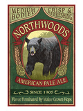 Northwoods, Maine Black Bear Ale Art by  Lantern Press
