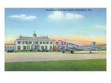 Birmingham, Alabama - View of the Municipal Airport Prints by  Lantern Press