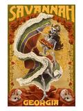 Dia De Los Muertos - Savannah, Georgia Prints by  Lantern Press