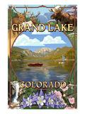 Grand Lake, Colorado Views Prints by  Lantern Press