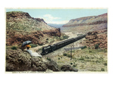 Arizona - Santa Fe Train in Crozier Canyon Prints by  Lantern Press