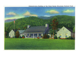 Gatlinburg, Tennessee - Exterior View of Great Smoky Mts. Nat'l Park Administration Bldg Poster by  Lantern Press