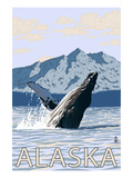Alaska - Humpback Whale Poster by Lantern Press