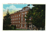 Rochester, Minnesota - Exterior View of the Worrell Hospital Posters by Lantern Press
