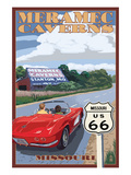 Meramec Caverns, Missouri - Route 66 and Barn Láminas por  Lantern Press
