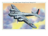 View of the Flying Fortress Boeing B-17C Plane Prints by  Lantern Press