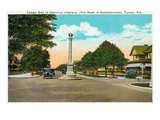 Tampa, Florida - Memorial Hwy, Road of Remembrance Scene Posters by  Lantern Press