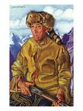 Portrait of Tom Dawson, a Native Mountain Man Posters by  Lantern Press