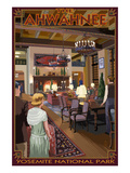 The Ahwahnee Lobby - Yosemite National Park, California Posters by  Lantern Press