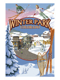 Winter Park, Colorado Montage Prints by  Lantern Press