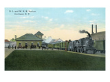 Cortland, New York - Delaware, Lackawanna, and Western Rail Station Prints by  Lantern Press