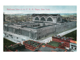 New York City, New York - Pennsylvania Railroad Depot Aerial View Prints by  Lantern Press