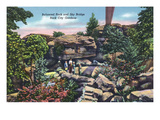 Lookout Mountain, Tennessee - Rock City Gardens, View of Balanced Rock and Sky Bridge Poster by  Lantern Press