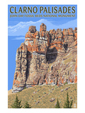 Clarno Palisades - John Day Fossil Beds, Oregon Prints by  Lantern Press