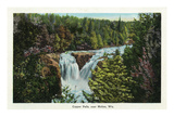 Wisconsin - Copper Falls Near Mellen Scene Posters by Lantern Press