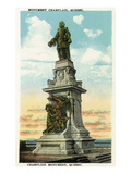 Quebec, Canada - Champlain Monument Scene Posters by Lantern Press
