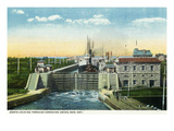 Sault Ste. Marie, Ontario - Boats Locking in Canadian Locks Prints by Lantern Press 