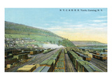 Corning, New York - New York Central and Hudson River Railroad Yards Posters by  Lantern Press