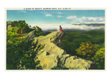 North Carolina - Blue Ridge Parkway, Scenic View at Blowing Rock Prints by  Lantern Press