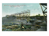 New York - Split Rock Quarry Bucket Line View Near Syracuse Prints by  Lantern Press