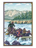 Whitewater Rafting Art by  Lantern Press