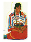 Portrait of Mountain Flower, a Blackfeet Maiden Posters by  Lantern Press