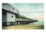 Long Beach, California - View of the Pier from Beach Print by  Lantern Press