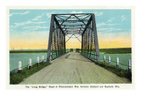 Chequamegon Bay, Wisconsin - Long Bridge Between Ashland and Bayfield Posters by  Lantern Press