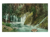 California - View of Mossbrae Falls on the Shasta Route Print by Lantern Press 