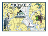 St. Michaels, Maryland - Nautical Chart Posters by  Lantern Press