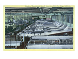 San Diego, California - Interior View of Consolidated Aircraft Corp. Plant Poster by  Lantern Press