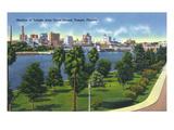 Tampa, Florida - Davis Island, Skyline View Poster von  Lantern Press