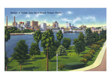 Tampa, Florida - Davis Island, Skyline View Print by  Lantern Press