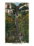 Chattanooga, Tennessee - General View of the Lookout Mountain Incline Prints by  Lantern Press