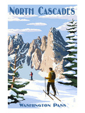 North Cascades, Washington - Cross Country Skiing Prints by  Lantern Press