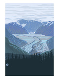 Glacier - Treeline Posters by  Lantern Press