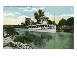 Auburn, New York - Boat in Owasco Lake Outlet Prints by  Lantern Press