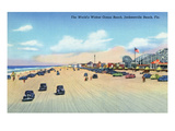 Jacksonville, Florida - View of World's Widest Ocean Beach Poster von  Lantern Press