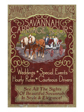 Savannah, Georgia - Carriage Tours Prints by Lantern Press